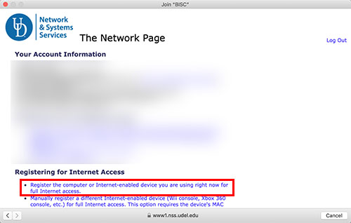 macOS Wi-Fi Screen Capture - Network Registration