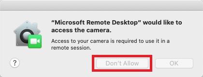 Mac VDI Remote Desktop Screen