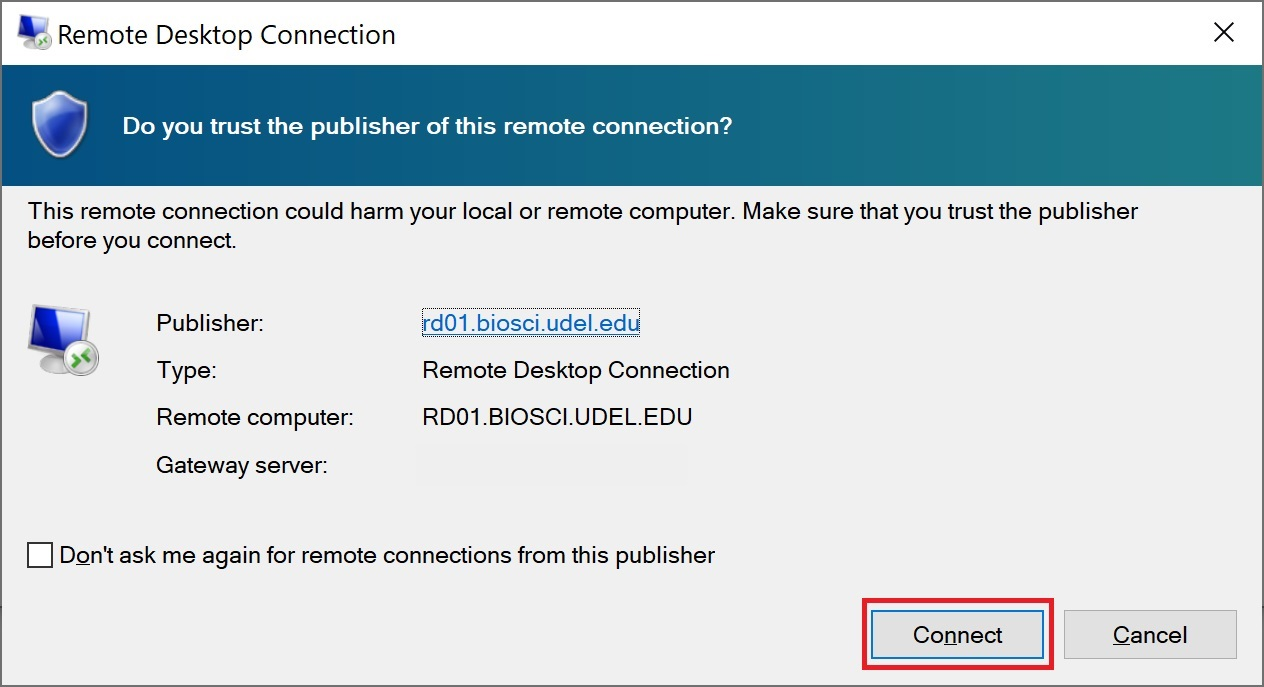 VDI Remote Desktop Connect