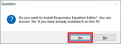 Respondus 4.0 - Install Respondus Equation Editor Screen Capture