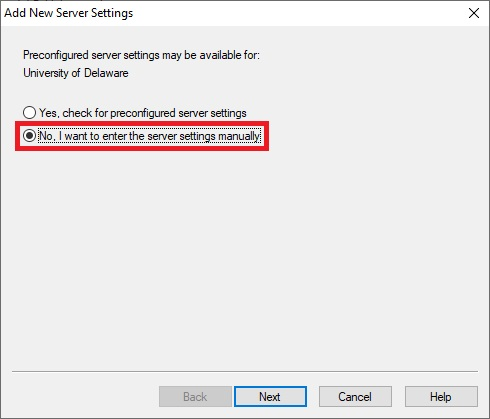 Respondus 4.0 - Add New Server Settings Screen Capture